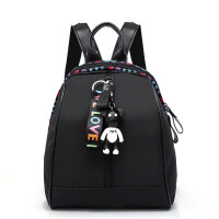 同款旅游牛津布女士背包双肩包新款休闲时尚韩版 黑色