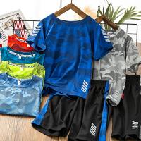 儿童男童夏装套装夏季中大童运动短袖迷彩男孩衣服潮款