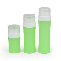 化妆品洗发沐浴液便携用品 分装瓶旅行套装圆柱形硅胶瓶按压护肤品