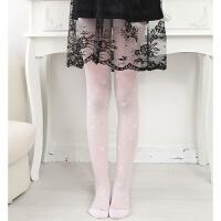 儿童丝袜女童连裤袜打底裤夏季薄款水晶丝白色网眼舞蹈袜春秋