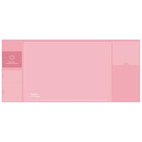 广博(GuangBo)大号多功能收纳桌垫韩版防水隔热鼠标垫办公学习用品 粉色NC2892