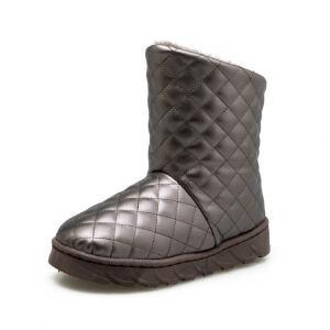 O'SHELL法国欧希尔新品冬季159-A-915韩版磨砂绒面平跟女士雪地靴