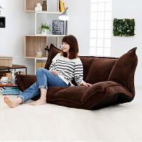 日式休闲无腿懒人沙发可爱创意榻榻米折叠单人沙发床卧室电脑沙发