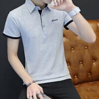 男士短袖T恤2018新款夏季青少年翻领POLO衫韩版潮流男装半袖上衣