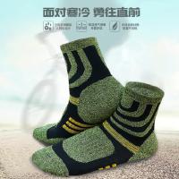 复古潮流男士滑雪袜 户外旅行加厚运动袜子 时尚多彩登山徒步袜新款篮球袜子