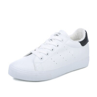 秋季加�q�\�有�女鞋 �n版保暖小白鞋�仍龈�W生加厚棉鞋