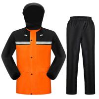 雨衣雨裤套装双层加厚男女骑行电瓶车摩托车分体全身防水雨衣新品