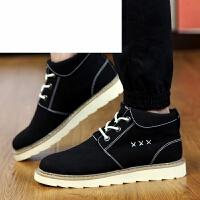 潮牌秋季韩版潮流男士高帮皮鞋青年中邦板鞋子休闲大头英伦