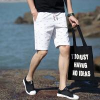 18新款夏季港风夏新款男士休闲短裤男五分裤松紧韩版青年直筒中裤