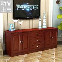 实木电视柜组合简约现代白色储物柜矮柜地柜卧室柜欧式白色款定制 组装