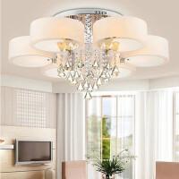 led水晶灯圆形客厅灯现代简约浪漫温馨婚房遥控节能餐厅卧室灯具