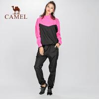 camel骆驼 新品运动健身两件套爆汗服女跑步发汗暴汗瑜伽服两件套