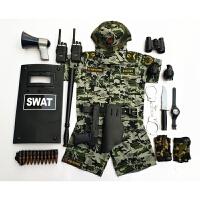 儿童小警察衣服迷彩服套装夏季幼儿园玩具枪小特种兵装备手铐礼物 二
