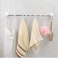 双庆40厘米吸盘毛巾架浴室毛巾挂厨房毛巾抹布架杂物挂架1918墙上壁挂创意免钉收纳挂衣架