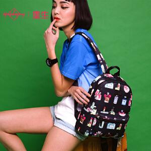 【支持礼品卡支付】Epiphqny韩版小女人香水印花背包休闲复双肩小背包51019