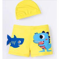 儿童泳裤男孩中小童夏速干婴儿宝宝游泳衣泳帽套装备