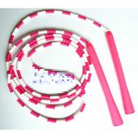 竹节跳绳 花样跳绳塑料柄珍珠绳学生比赛速度单人竹节短绳健身 CX