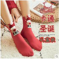 圣诞袜子女秋冬季中筒潮韩版学院风纯棉日系韩国长筒可爱加厚棉袜