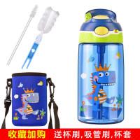 夏季儿童运动水杯宝宝水壶幼儿园防摔便携小学生吸管杯夏天