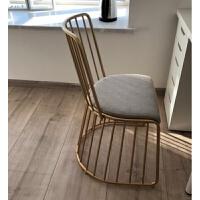 北欧金色铁艺实木餐桌西餐桌简约休闲咖啡厅大理石桌网红桌椅组合