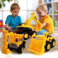 沙滩车玩具男孩玩具惯性车挖土机儿童大号工程车挖掘机模型玩具