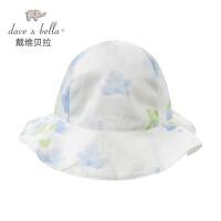 davebella戴维贝拉2017夏季新品女童小兰花帽子 渔夫帽 遮阳帽