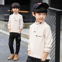中大童加厚套头韩版儿童装男童秋冬装加绒长袖打底衫t恤