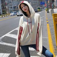 欧若珂 连帽卫衣女2018秋季新款韩版宽松长袖外套
