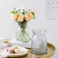 奇居良品 现代简约家居装饰摆件花瓶 克瑞格水培玻璃花瓶花插