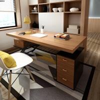实木办公桌现代简约工业风老板桌总裁桌台式电脑桌用书桌