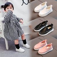 春秋儿童鞋子男童休闲鞋皮鞋女童豆豆鞋软底宝宝单鞋