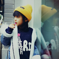 儿童帽子秋冬女童韩国时尚潮毛线帽秋款洋气中大童男童针织棉帽子