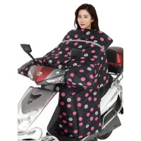 保暖加绒加厚防水电动车挡风被 男女骑电动车挡风被踏板摩托车防风罩