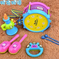 物有物语 拨浪鼓 儿童摇铃婴儿0-1-2岁宝宝摇铃新生儿手摇铃拨浪鼓5件套装儿童玩具启蒙乐器 益智玩具