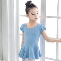 儿童舞蹈服夏季女童短袖练功服中国舞蹈裙女孩分体式芭蕾舞裙