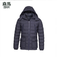 森马哥来买秋冬新款青年连帽男士休闲羽绒服修身韩版冬季外套正品