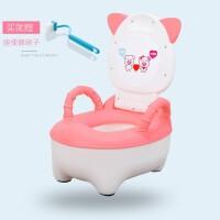 【新品特惠】儿童坐便器简易便盆尿盆塑料男女通用宝宝坐便盆带盖小马桶 粉色 坐便器(无软垫)