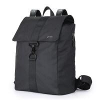 背包双肩包男士休闲旅行包时尚潮流简约运动韩版大学生书包大容量 纯黑色(无LOGO版)