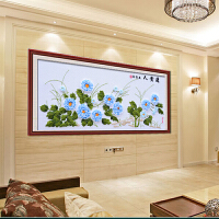 5D印花新款丝带绣十字绣花开富贵 牡丹客厅大幅挂画 兰贵人 E-00020