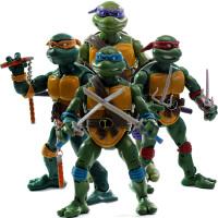 动漫模型玩具 忍者神龟公仔玩偶经典复古版关节可动