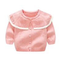 蓓莱乐婴儿童装毛衣服针织外套0岁3月宝宝春秋冬装婴儿领开衫新年