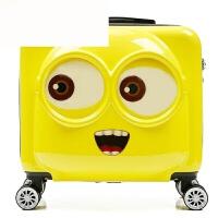 儿童拉杆箱小黄人行李箱卡通旅行箱登机18寸小箱男女学生密码箱子 明黄色 18寸