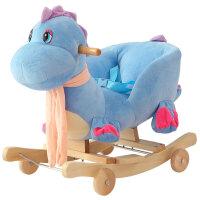 儿童木马宝宝摇马带音乐实木两用大号摇椅婴儿益智玩具周岁礼物