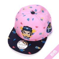 韩版潮刺绣休闲平沿鸭舌帽 儿童嘻哈帽男童女童棒球帽