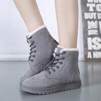 雪地靴女短筒棉鞋女学生加绒保暖鞋马丁靴子女短靴
