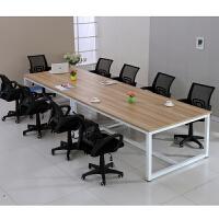 会议桌长桌简易工作台员工桌子大型培训洽谈桌简约现代职员条桌