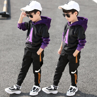 童装男童秋冬季套装儿童装加绒卫衣韩版男孩运动两件套潮