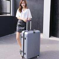 超大32寸行李箱万向轮大号拉杆箱男30寸 大容量旅行箱 学生密码箱 银灰色【杯架163】 20寸买一送六