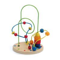 【年货节】Hape火箭基地2-6岁儿童益智启蒙玩具串珠绕珠婴幼玩具木制玩具E1806