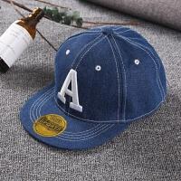 儿童刺绣嘻哈帽子男女童棒球帽春夏季韩版潮鸭舌帽2-8岁